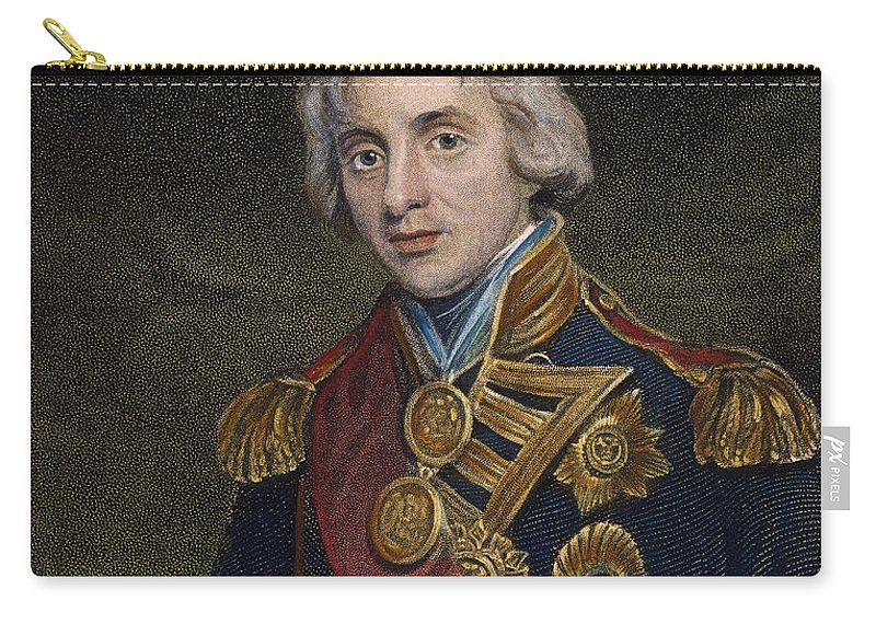 Admiral Carry-all Pouch featuring the photograph Horatio Nelson (1758-1805) by Granger