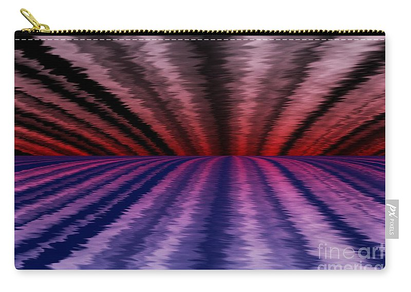 Abstract Carry-all Pouch featuring the digital art Horizon by David Lane