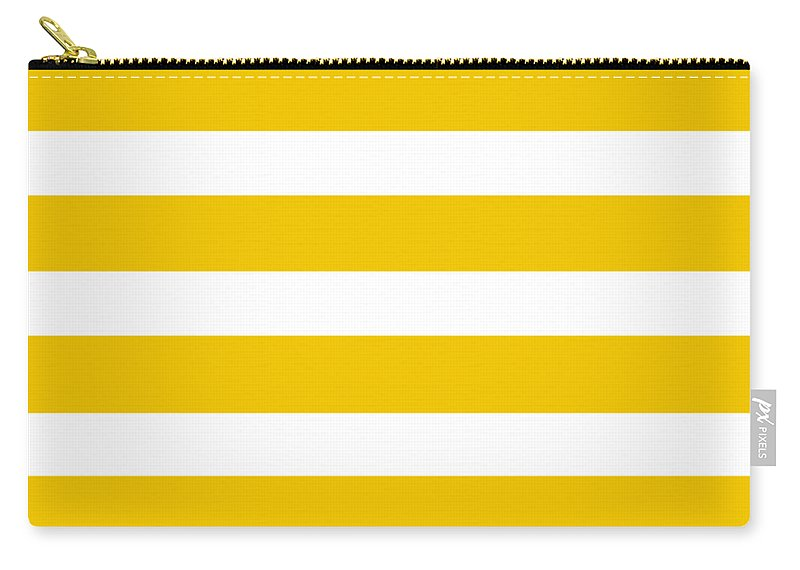 Stripes Carry-all Pouch featuring the digital art Horizontal White Inside Stripes 05-p0169 by Custom Home Fashions
