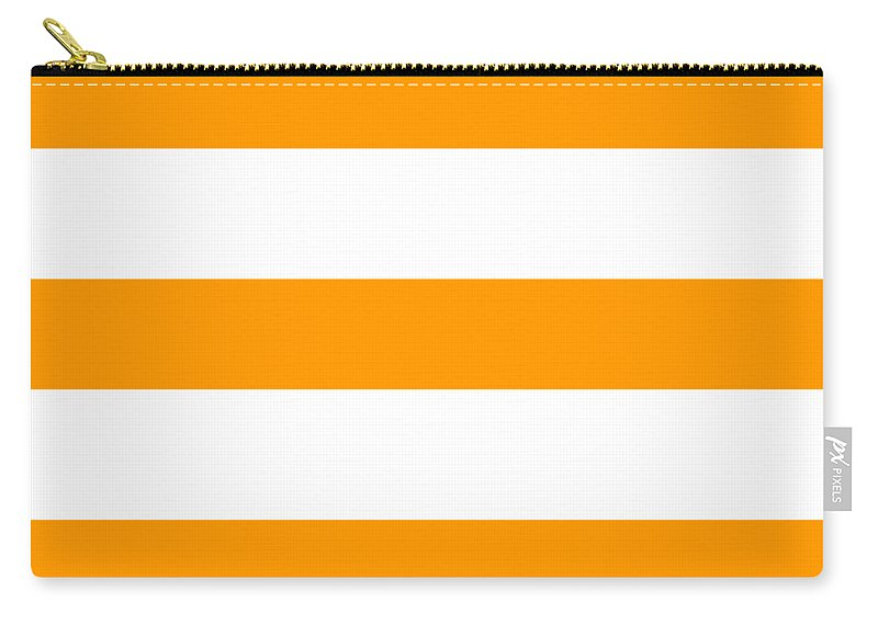 Stripes Carry-all Pouch featuring the digital art Horizontal White Outside Stripes 03-p0169 by Custom Home Fashions