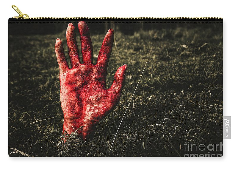 Hand Carry-all Pouch featuring the photograph Horror Resurrection by Jorgo Photography - Wall Art Gallery