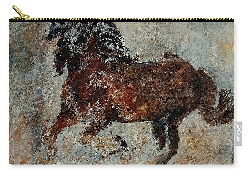 Animal Carry-all Pouch featuring the painting Horse 561 by Pol Ledent