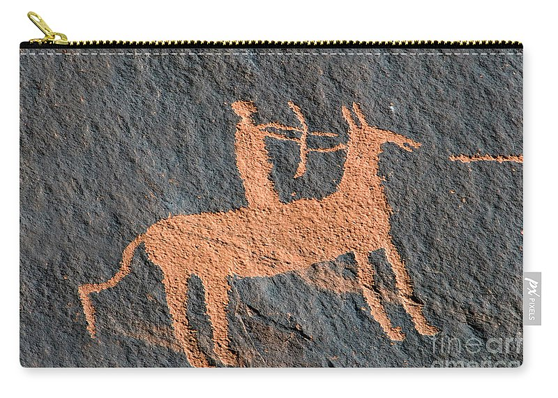 Bow And Arrow Carry-all Pouch featuring the photograph Horse And Arrow by David Lee Thompson