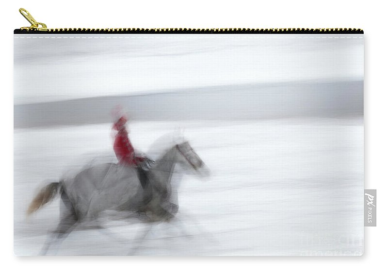 Godyaykin Carry-all Pouch featuring the photograph Horse Hunt #8125 by Andrey Godyaykin