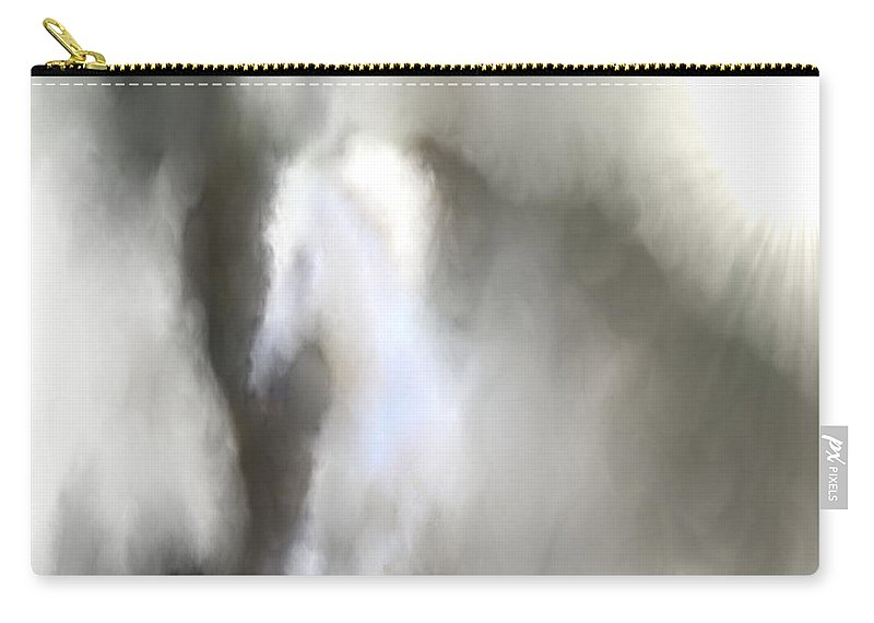Horses Carry-all Pouch featuring the digital art Horse No.1 by Abdulaziz Butaiban
