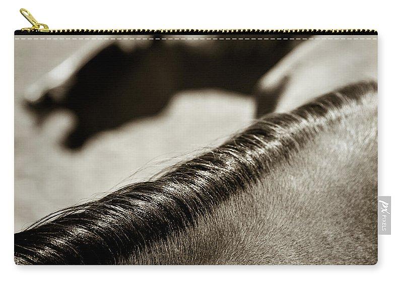 Horses Carry-all Pouch featuring the photograph Horse Play by Dave Bowman