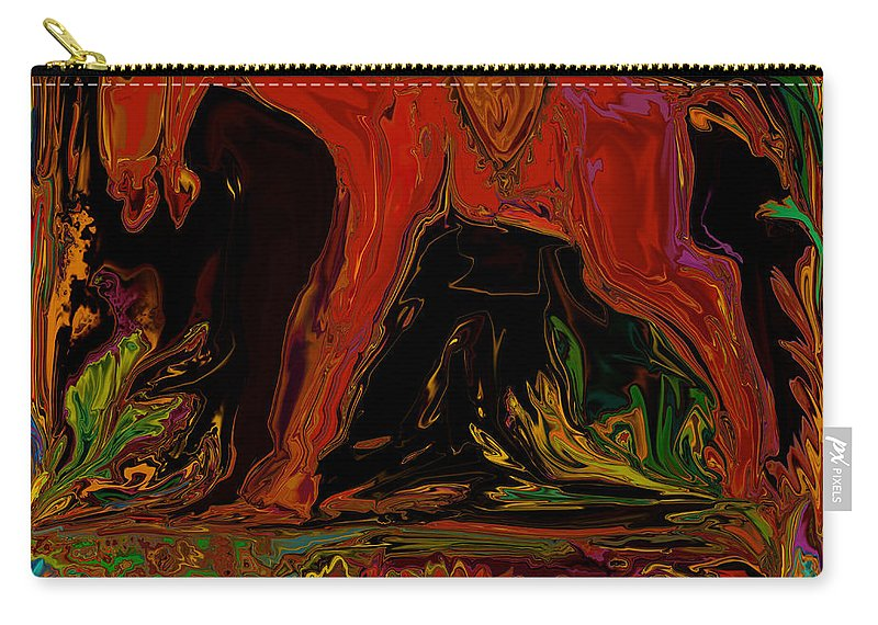 Animal Carry-all Pouch featuring the digital art Horse by Rabi Khan