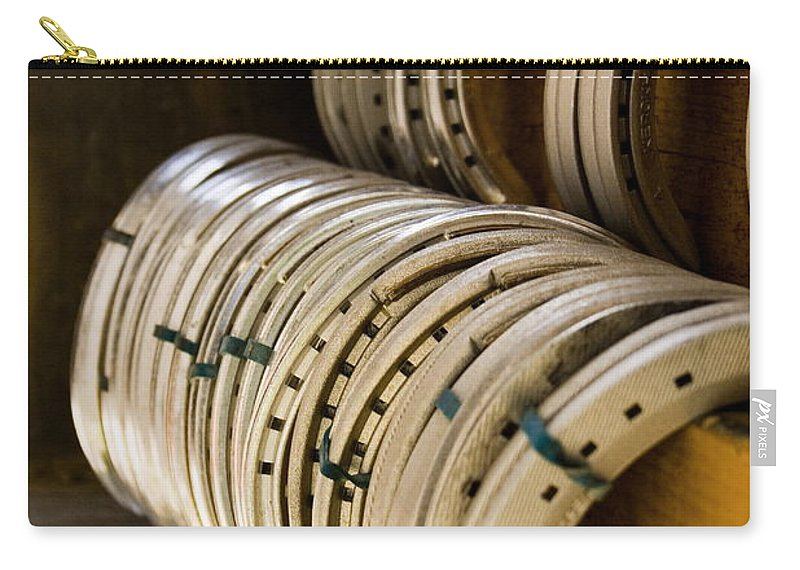 Farrier Carry-all Pouch featuring the photograph Horse Shoes by Angela Rath