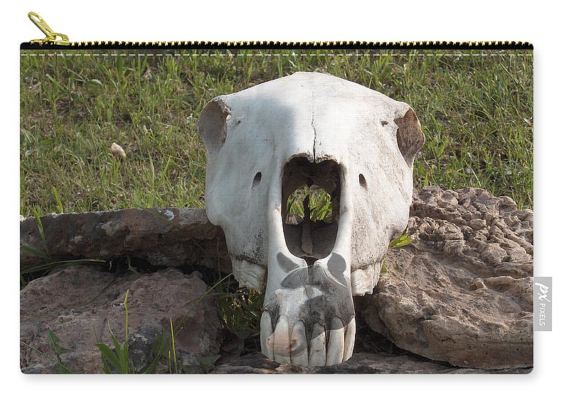 Horse Skull Spirit Friends Alone Rocks Horses Animals Ranch Herd Carry-all Pouch featuring the photograph Horse Spirits 2 by Andrea Lawrence