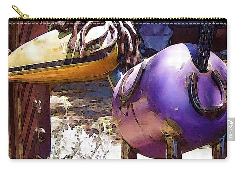 Sculpture Carry-all Pouch featuring the photograph Horse With No Name by Debbi Granruth