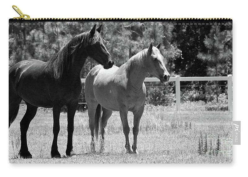 Horses Carry-all Pouch featuring the photograph Horses by Julie Blackburn