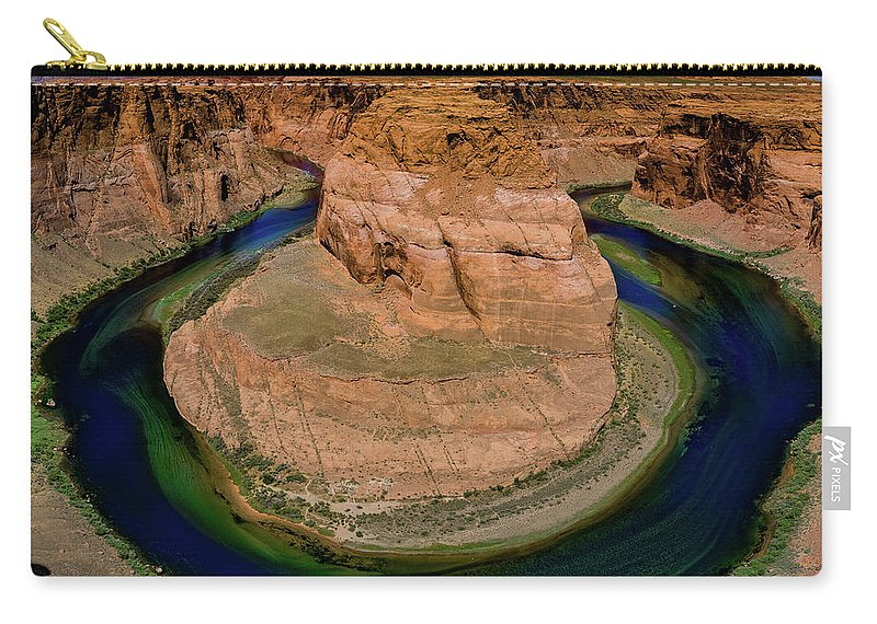 Horseshoe Carry-all Pouch featuring the photograph Horseshoe Bend by Phil Abrams