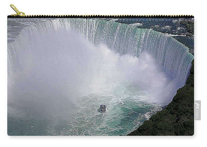 Falls Carry-all Pouch featuring the digital art Horseshoe Falls And Maid Of The Mist by DigiArt Diaries by Vicky B Fuller