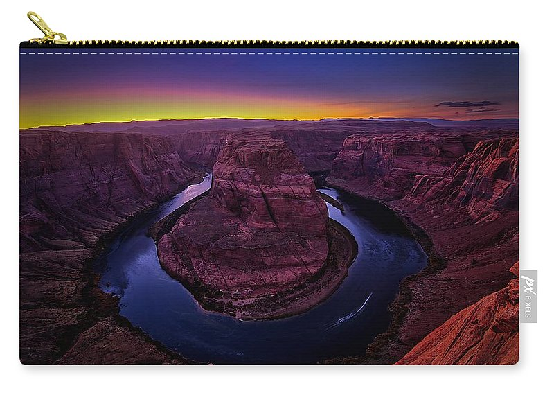 Arizona Carry-all Pouch featuring the photograph Horseshoe Sunset by James Zebrack