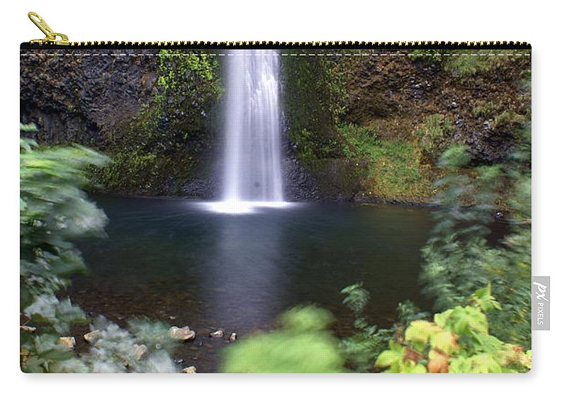 Columbia River Gorge Carry-all Pouch featuring the photograph Horsetail Falls Basin by Marty Koch