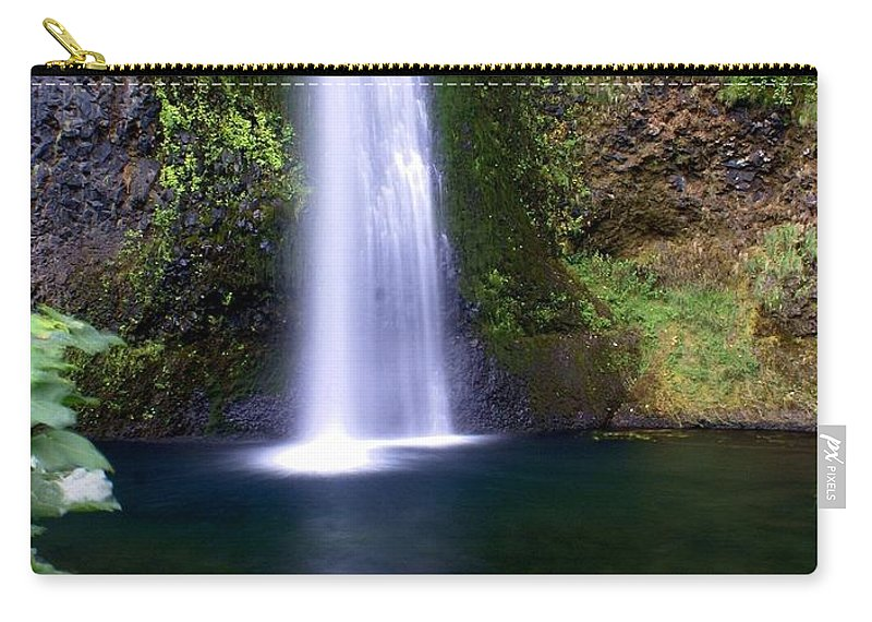 Waterfalls Carry-all Pouch featuring the photograph Horsetail Falls by Marty Koch