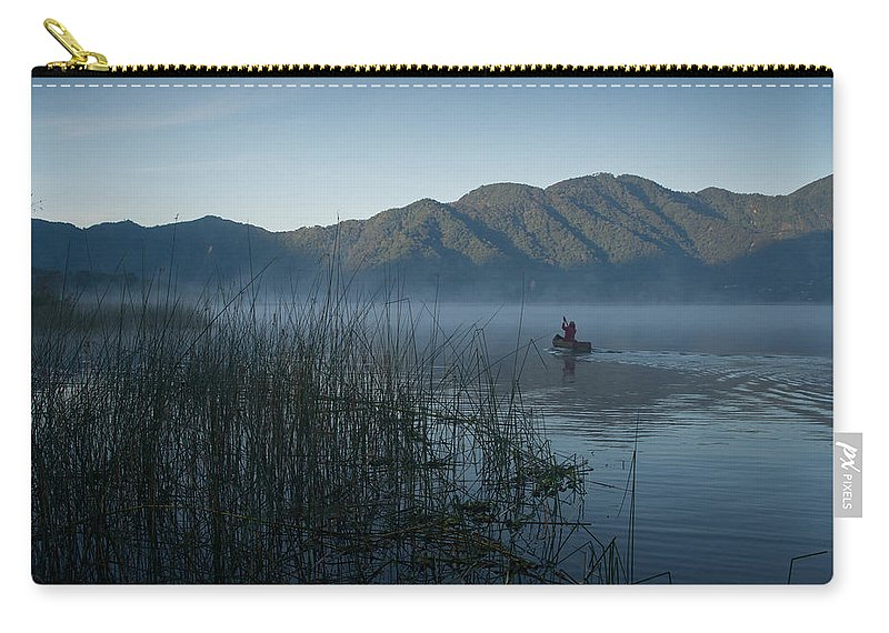 Volcano Carry-all Pouch featuring the photograph Horsetails On Lake Atitlan Guatemala by Douglas Barnett
