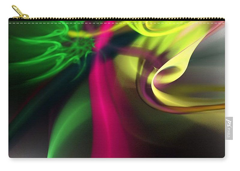 Fine Art Carry-all Pouch featuring the digital art Hot Chili Nightmare by David Lane
