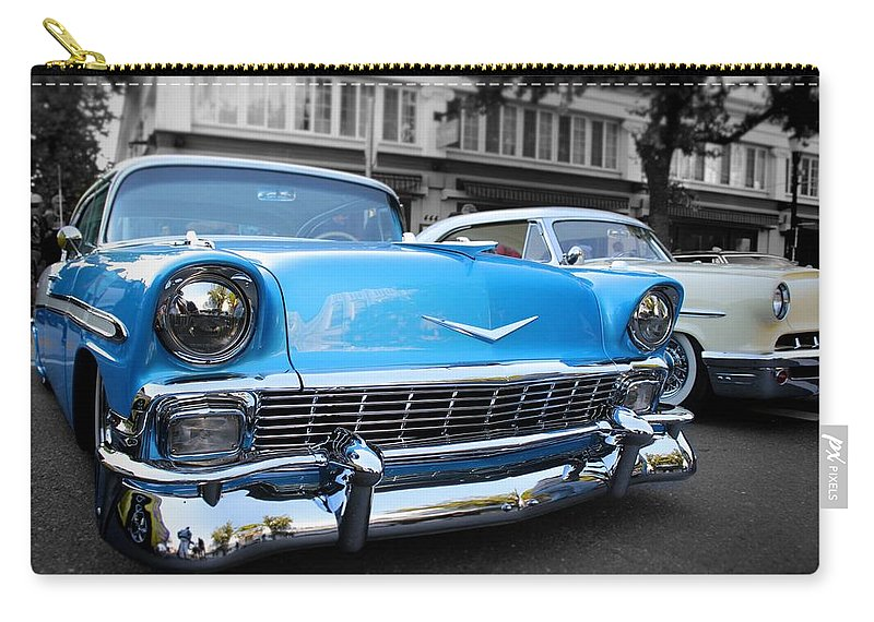 Cars Carry-all Pouch featuring the photograph hot Classic Cheves by Jesse Sanchez
