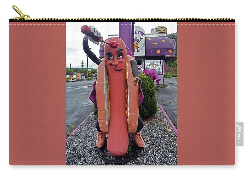 Bristol Carry-all Pouch featuring the photograph Hot Dog Man by Ron Kandt