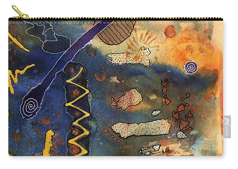 Acrylic Carry-all Pouch featuring the painting Hot Fun Out West In Arizona by Angela L Walker