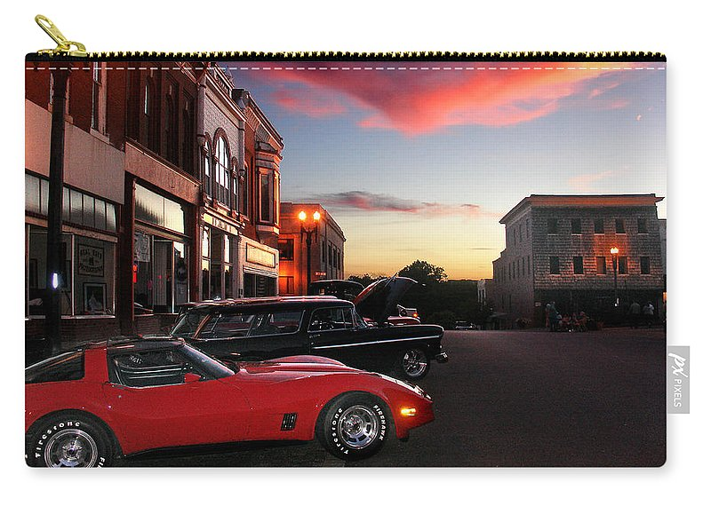 Car Carry-all Pouch featuring the photograph Hot Night by Steve Karol
