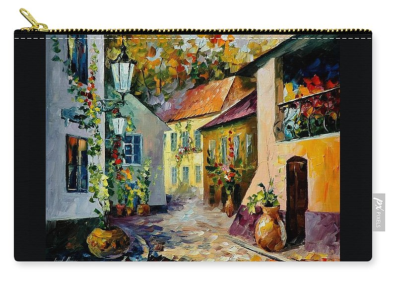 Landscape Carry-all Pouch featuring the painting Hot Noon Original Oil Painting by Leonid Afremov