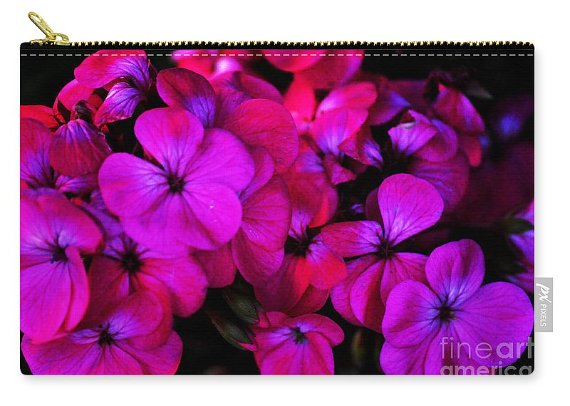 Clay Carry-all Pouch featuring the photograph Hot Pink Florals by Clayton Bruster