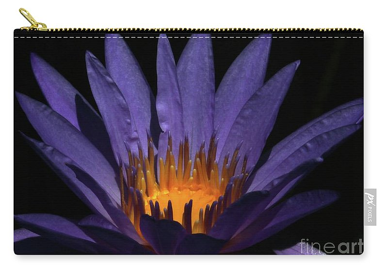 Water Lily Carry-all Pouch featuring the photograph Hot Purple Water Lily by Sabrina L Ryan