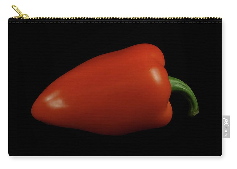 Red Carry-all Pouch featuring the photograph Hot Red by Krisjan Krafchak