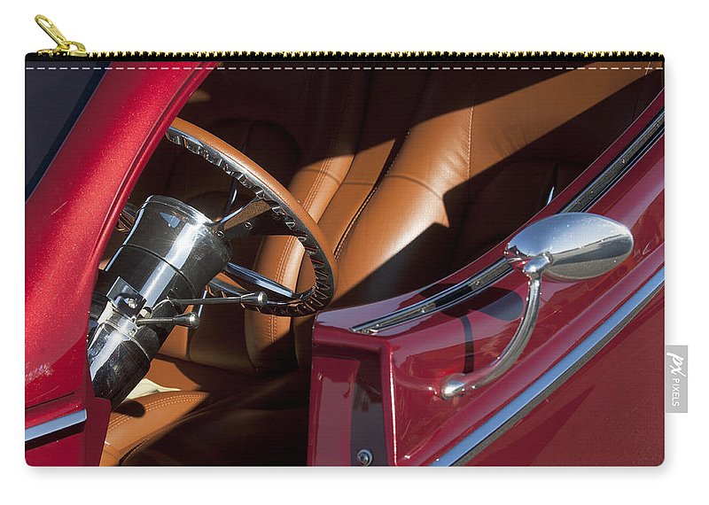 Hot Rod Carry-all Pouch featuring the photograph Hot Rod Steering Wheel by Jill Reger