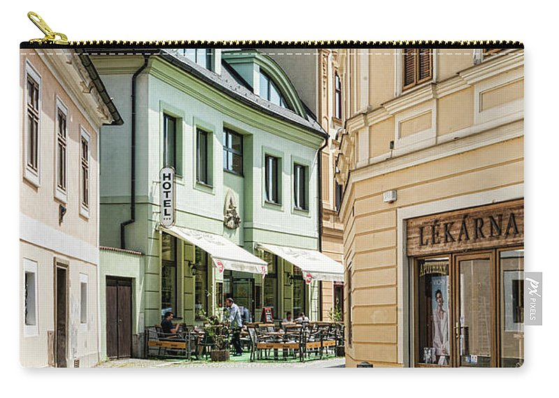 Central Europe Carry-all Pouch featuring the photograph Hotel Around The Bend by Sharon Popek