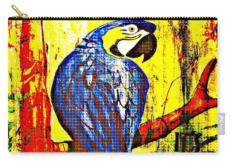 Blue Carry-all Pouch featuring the photograph Hotel Art by JAMART Photography