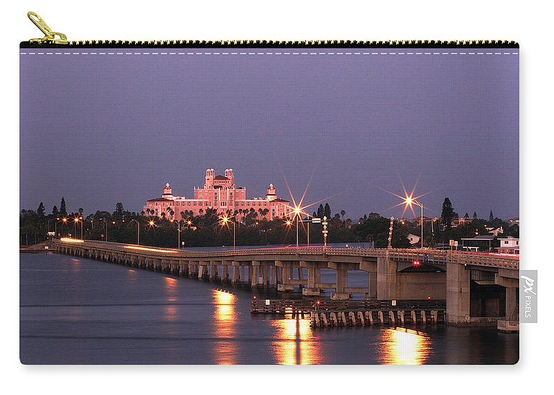 Don Cesar Carry-all Pouch featuring the photograph Hotel Don Cesar The Pink Palace St Petes Beach Florida by Mal Bray