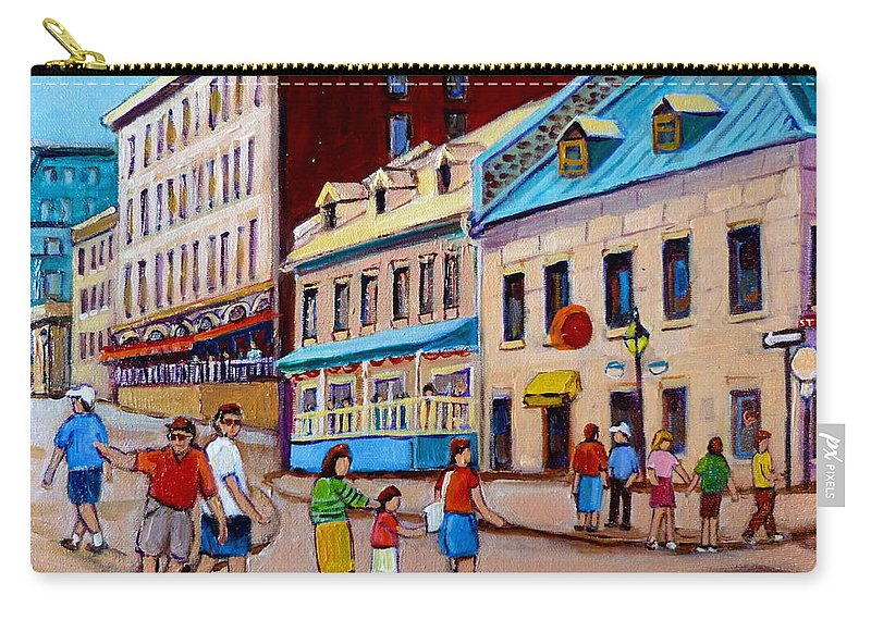 Hotel Nelson Old Montreal Carry-all Pouch featuring the painting Hotel Nelson Old Montreal by Carole Spandau