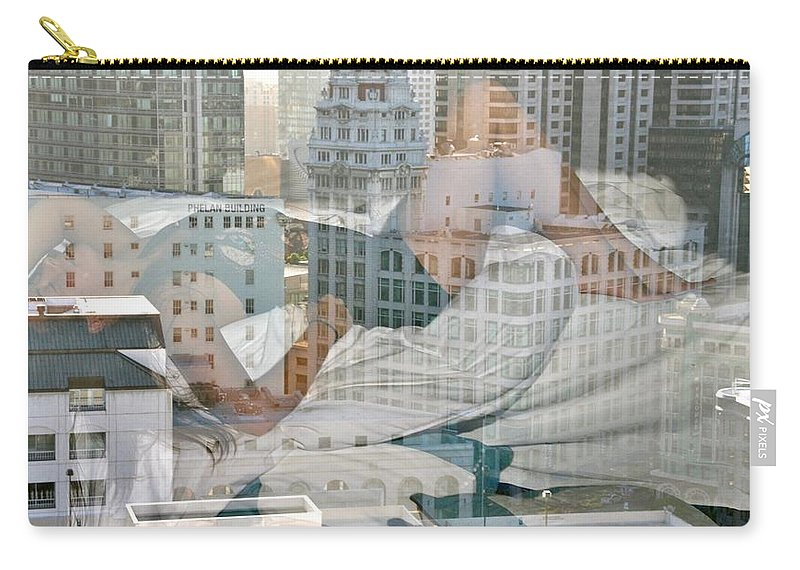 San Francisco Carry-all Pouch featuring the photograph Hotel Phelan Reflection by Dave Boseman
