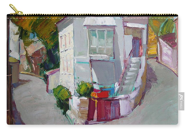 Ignatenko Carry-all Pouch featuring the painting Hous In Crimea by Sergey Ignatenko