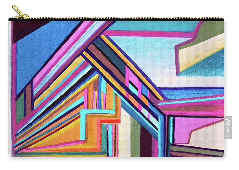 Architectural Carry-all Pouch featuring the painting House By The Bay by Polly Castor
