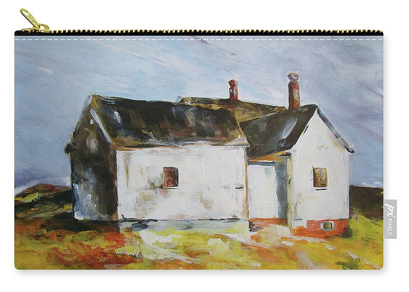 Carry-all Pouch featuring the painting House by Kaitlin Foster