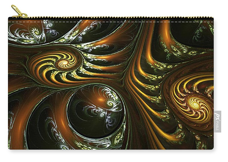 Digital Painting Carry-all Pouch featuring the digital art House Of Mirrors by David Lane
