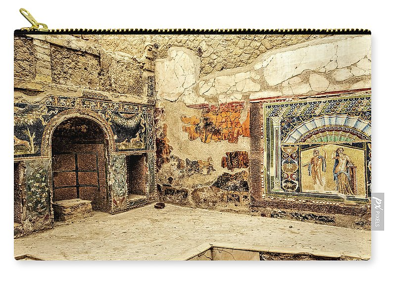Archeology Carry-all Pouch featuring the photograph House Of Neptune by Maria Coulson