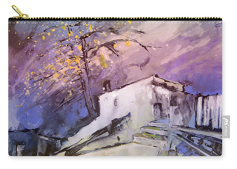 Fantasy Carry-all Pouch featuring the painting House Of The Blues by Miki De Goodaboom