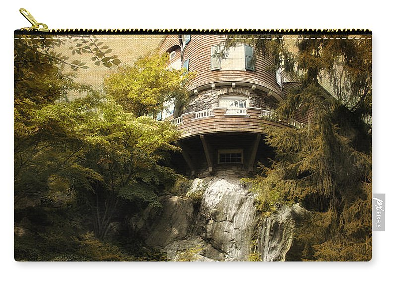 Architecture Carry-all Pouch featuring the photograph House On A Hill by Jessica Jenney
