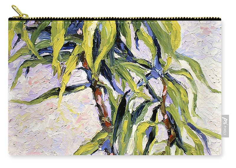Yucca Carry-all Pouch featuring the painting House Plant by Lewis Bowman