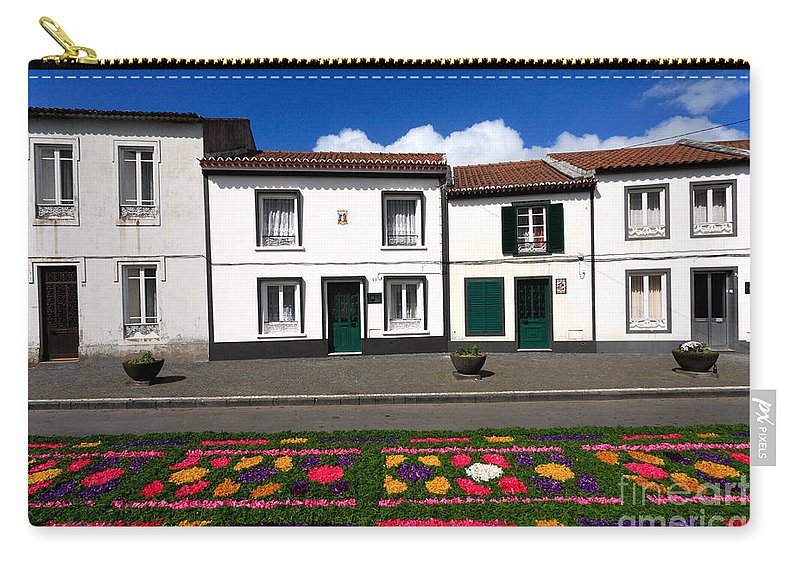 Azores Carry-all Pouch featuring the photograph Houses In The Azores by Gaspar Avila