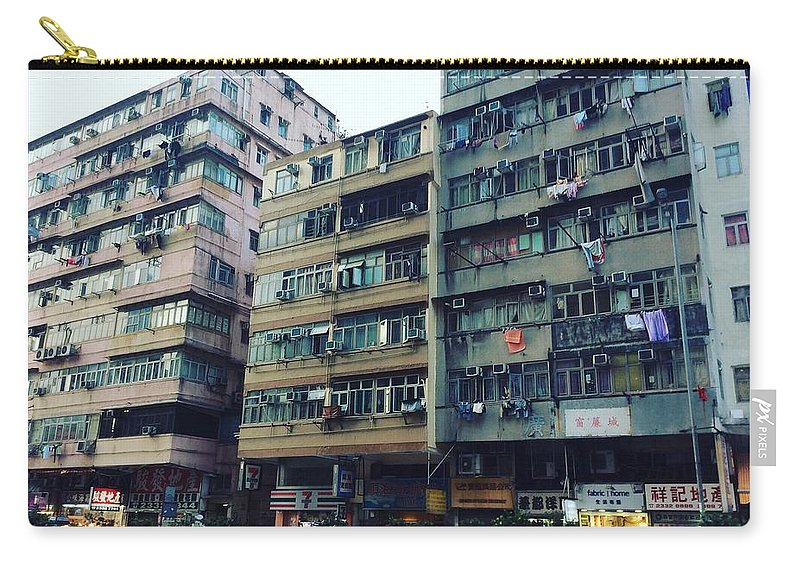 Hongkong Carry-all Pouch featuring the photograph Houses Of Kowloon by Florian Wentsch