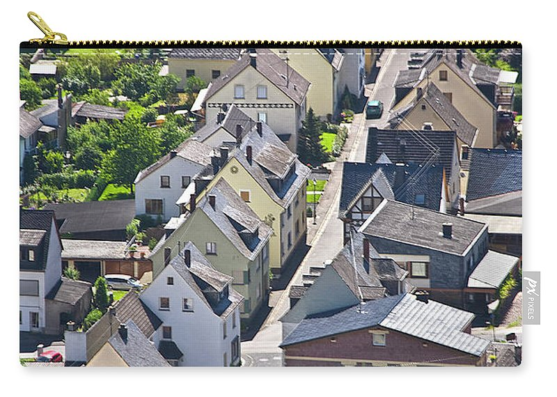 Europe Carry-all Pouch featuring the photograph Houses On-line by Heiko Koehrer-Wagner