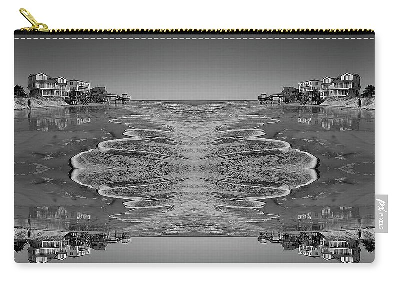 Topsail Island Carry-all Pouch featuring the photograph Houses On The Watch by Betsy Knapp