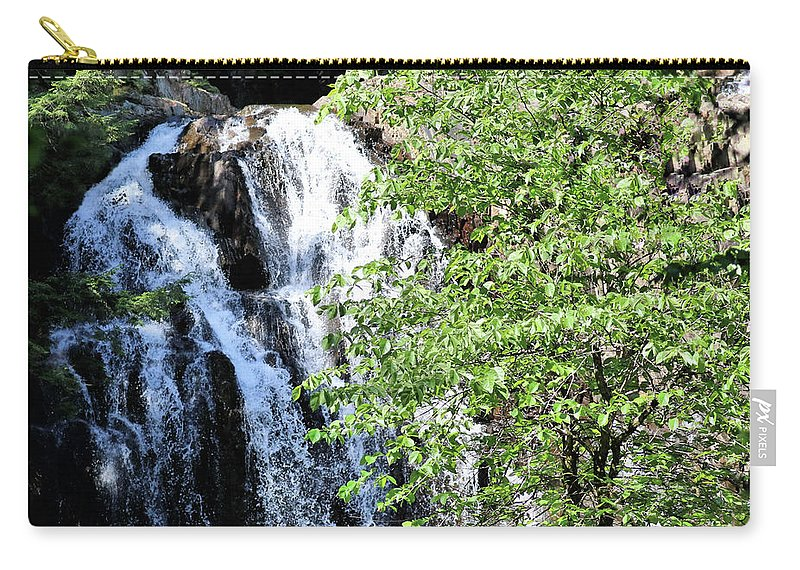 Waterfalls Carry-all Pouch featuring the photograph Houston Brook Falls Square by Sandra Huston