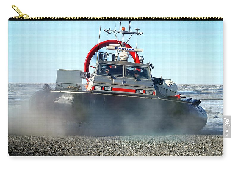 Hover Craft Carry-all Pouch featuring the photograph Hover Craft by Anthony Jones
